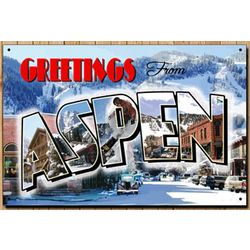 Aspen Colorado Metal Sign
