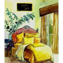 Bedroom Decor Personalized Art Print