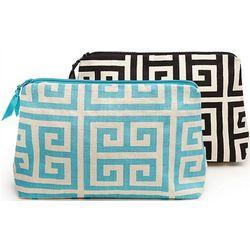 Greek Pattern Makeup Bag