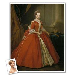 Classic Painting Princess Maria Personalized Print