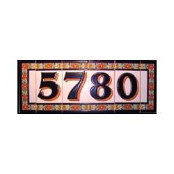 Handmade spanish numbers and letters ceramic address tiles for Ceramic tile numbers and letters