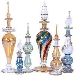 Egyptian Blown Glass Perfume Bottles