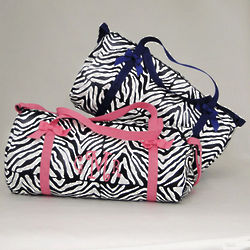 Personalized Zebra Duffle Bag