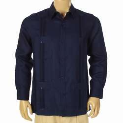 Irish Linen Guayabera Long Sleeve Shirt
