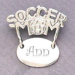 Soccer Mom Sterling Silver Pin/Pendent