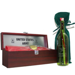 Personalized Army Message Bottle and Gift Box