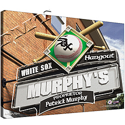 Personalized Canvas MLB Sports Pub Print