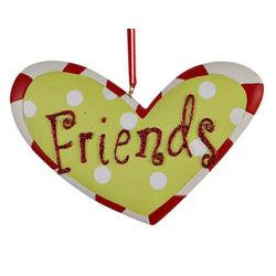 Friends Heart Christmas Ornament