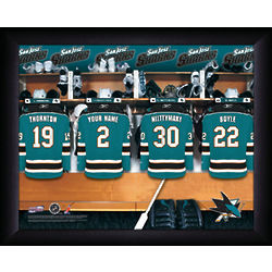 Personalized NHL San Jose Sharks Locker Room Print