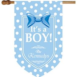It's a Boy House Flag