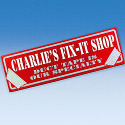 Personalized Fix It Shop Sign