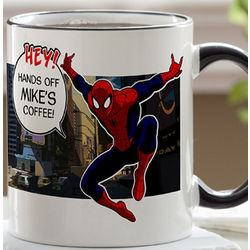 Personalized Spiderman Coffee Mug