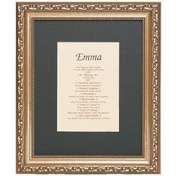 First Name and Meaning Framed Print