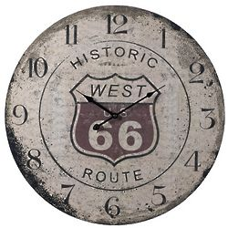 Route 66 Distressed Clock