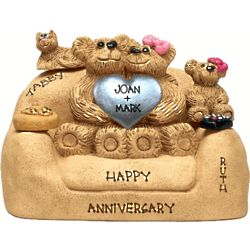 25th Anniversary Chair for Bear Couple with up to 5 Kids