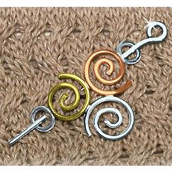 Tri-Color Triskel Brooch