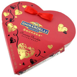 Red and Gold Foil Heart Box with Assorted Chocolates