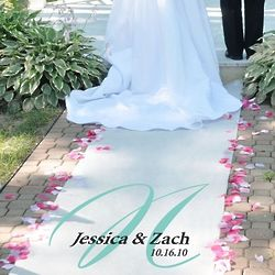 Elegance Personalized Wedding Aisle Runner