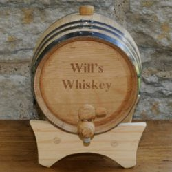 Personalized 2 Liter Mini Oak Whiskey Barrel