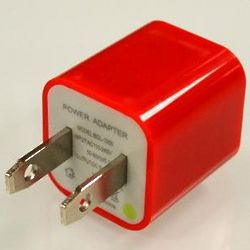 Red iPhone USB Input Charger Adapter
