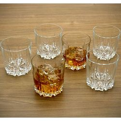 Florence Crystal Whiskey Glass Set