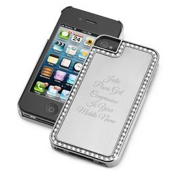 Surrounded Sparkle Silver iPhone 4 Case