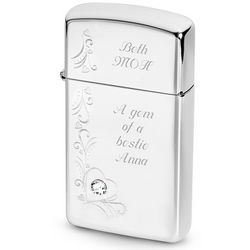Zippo Slim Lighter with Swarovski Accent