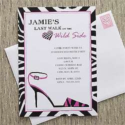 Personalized Wild Side Bachelorette Party Invitations