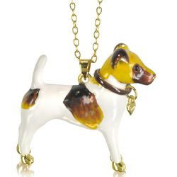 Fox Terrier Dog Long Necklace