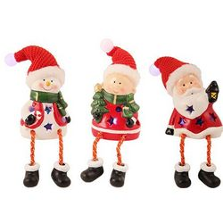 Santa, Elf and Snowman Holiday Friends Figurines