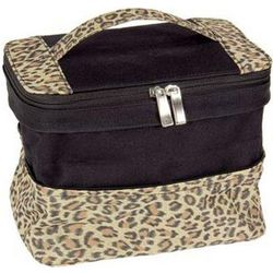 Leopard Print Expandable Bag