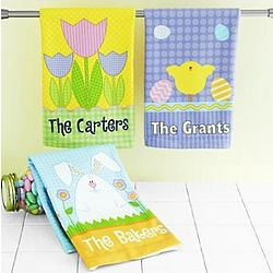 Personalized Cheerful Easter Hand Towel