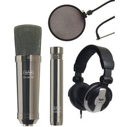 Studio Pack with Headphones, Pop Filter, and 2 Microphones