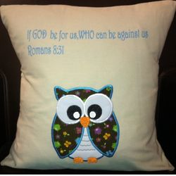 If God is For Us Owl Pillow