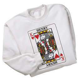 Queen or King of Hearts Sweatshirt