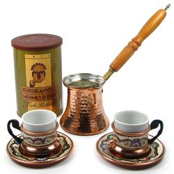 Mehmet Efendi Turkish Coffee Set for 2 with Coffee Pot and Cups