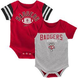 Newborn's Wisconsin Badgers Vintage Bodysuits