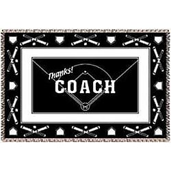 Personalized Baseball Coach Afghan