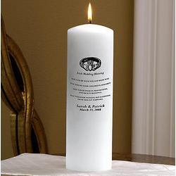 Personalized Irish Wedding Blessing Unity Candle