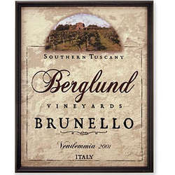 Personalized Southern Tuscany Wine Label Canvas