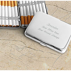 Personalized Make Your Own Silver Plated Cigarette Case
