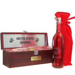 Personalized Marine Corps Message Bottle and Gift Box