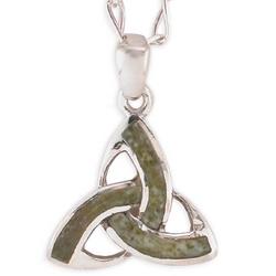 Trinity Knot Connemara Marble Pendant