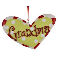 Grandma Heart Christmas Ornament