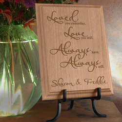 Personalized Love You Always Wooden Plaque