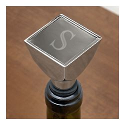 Monogrammed Square Top Wine Stopper