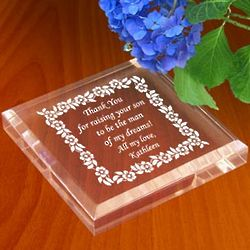 Personalized Make Your Own Flower Design Paperweight
