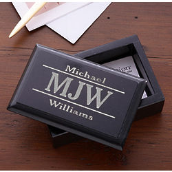 Marble Personalized Business Card Holder