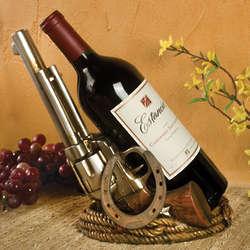 Western Pistol Wine Bottle Holder