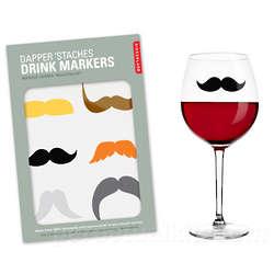 Dapper 'Staches Drink Stickers